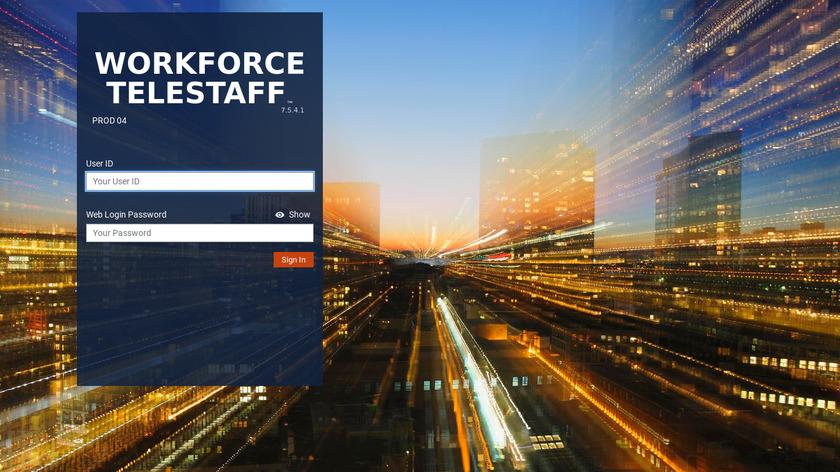 Workforce TeleStaff Landing Page