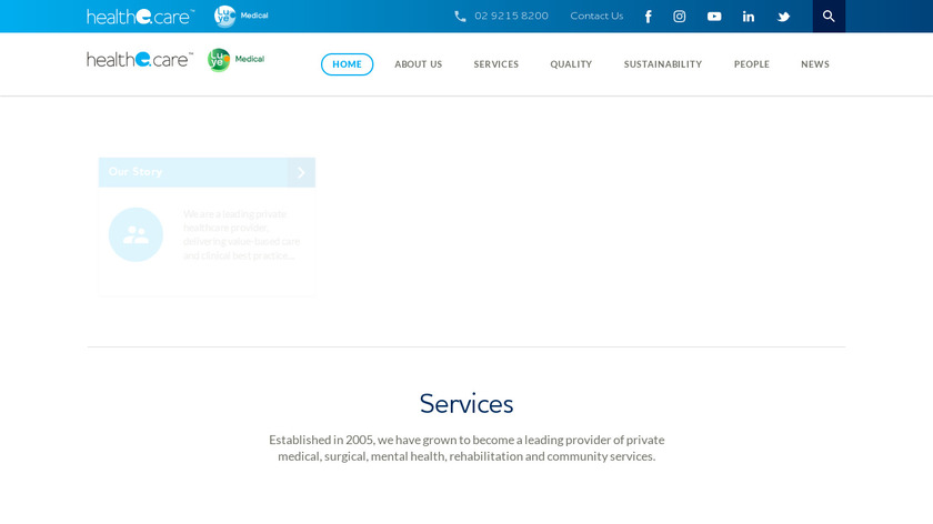 HealtheCare Landing Page