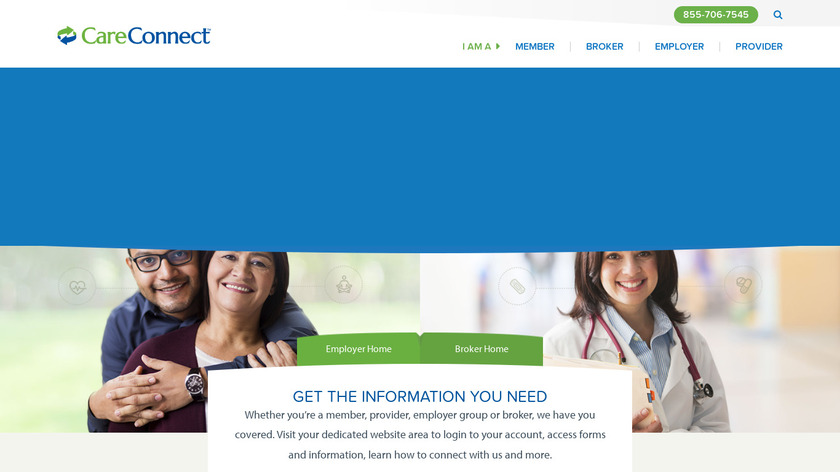 CareConnect Landing Page