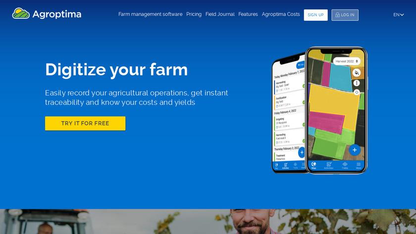 Agroptima Landing Page