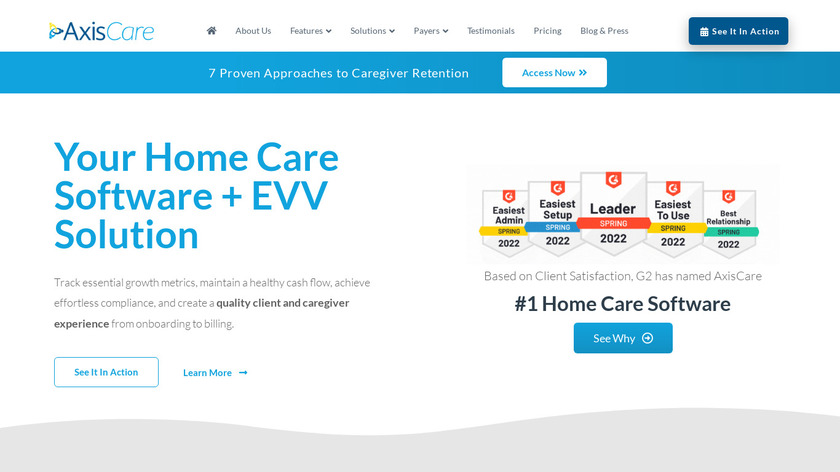 AxisCare Landing Page