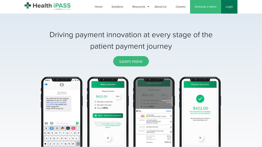 Health iPass Landing Page