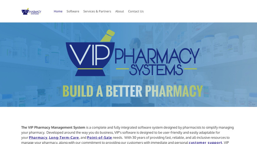 VIP Pharmacy Management System Landing Page