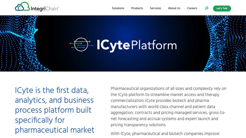 IntegriChain iCyte Paltform Landing Page