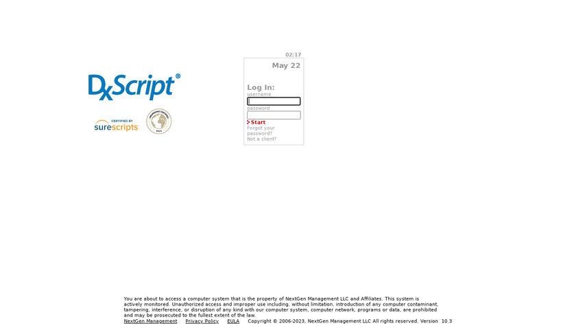 DxScript Landing Page