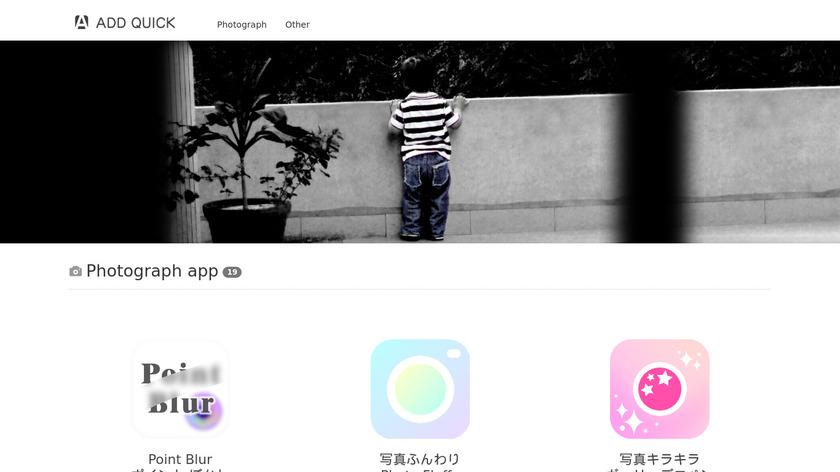 Photo Glitter Light effect Landing Page