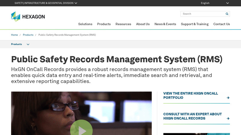 Intergraph InPursuit Field Based Reporting Landing Page