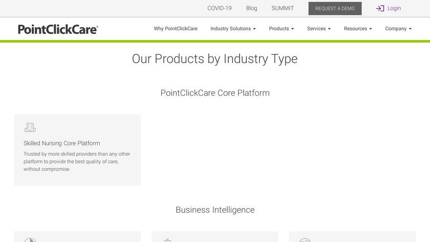 PointClickCare Business Intelligence Landing Page