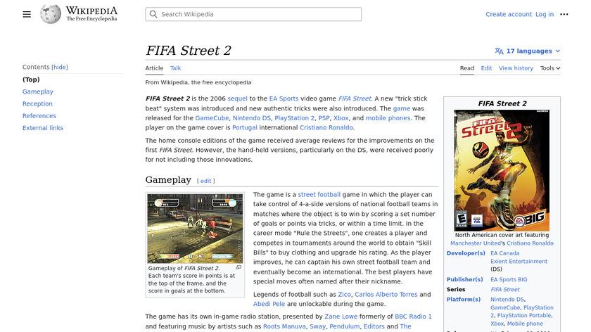 FIFA Street 2 Landing Page