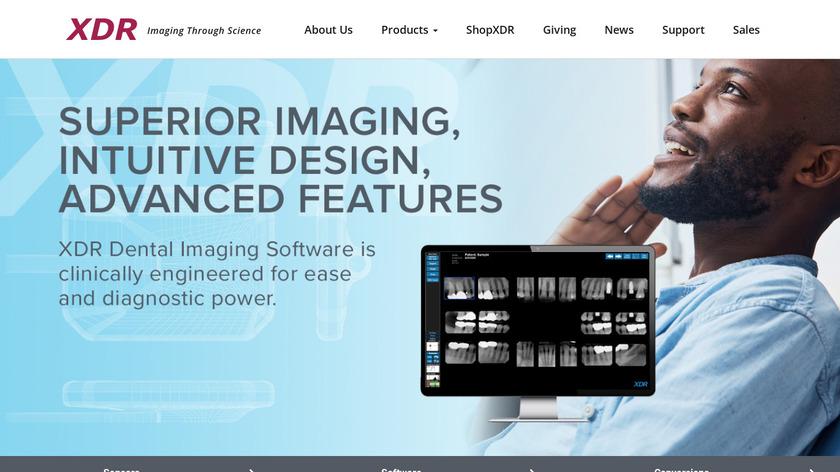 XDR Dental Imaging Software Landing Page