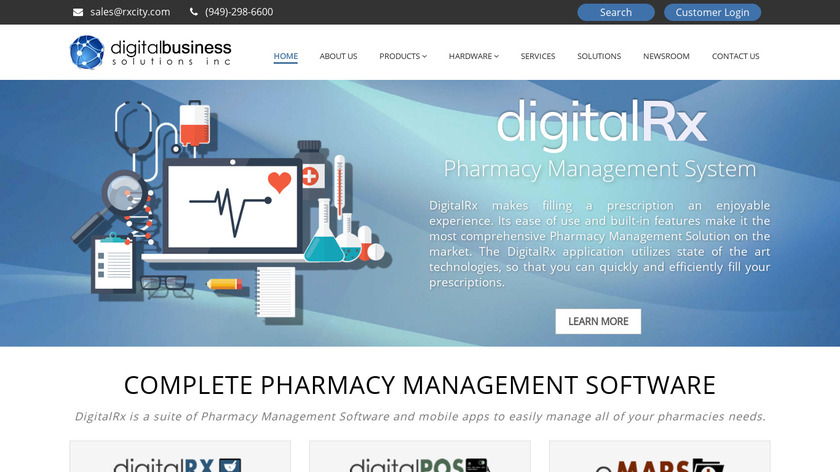 DigitalRX Landing Page