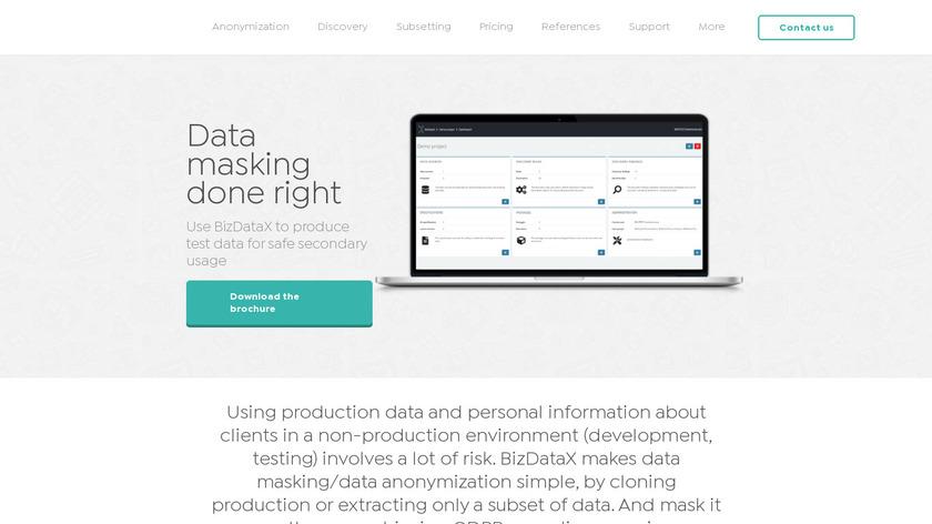 BizDataX Landing Page