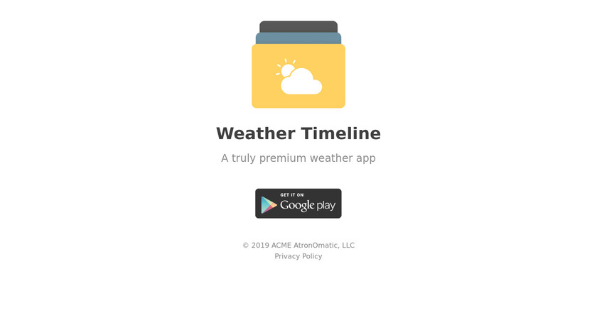 Weather Timeline Landing Page