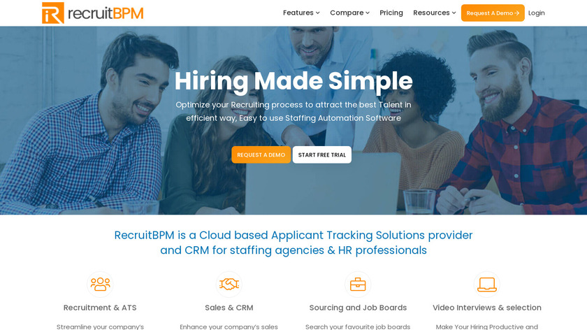 RecruitBPM Landing Page