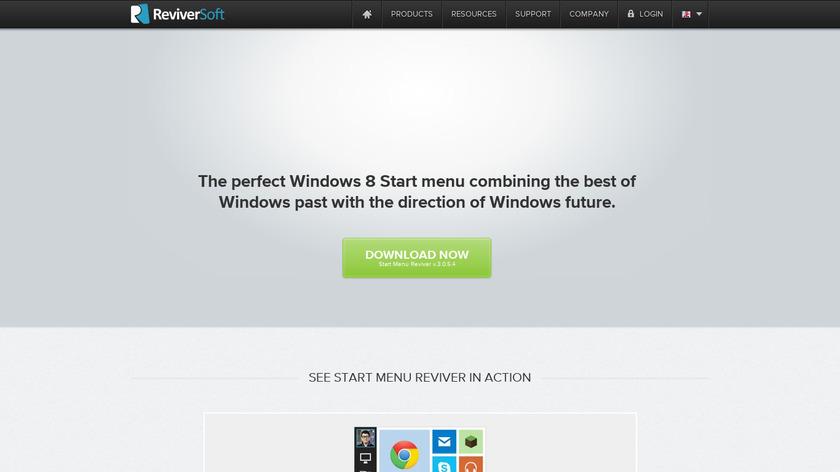 Start Menu Reviver Landing Page
