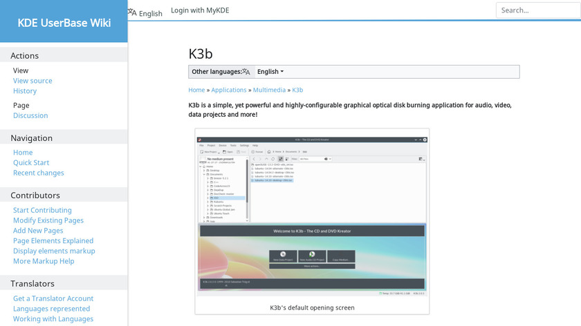 K3b Landing Page