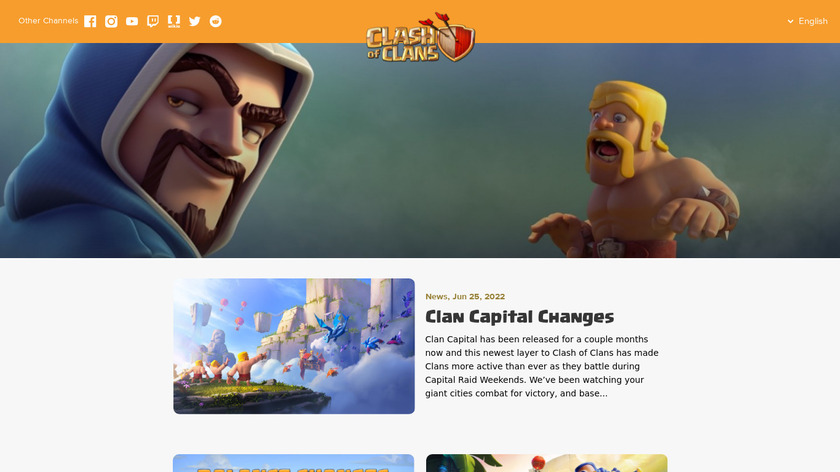 Clash of Clans Landing Page