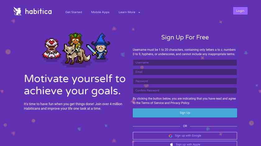 Habitica Landing Page