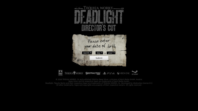 Deadlight Landing Page