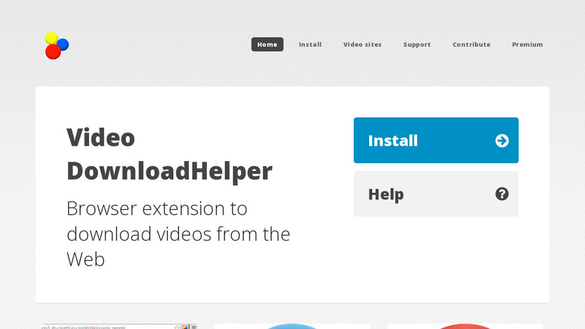 Video DownloadHelper Landing Page