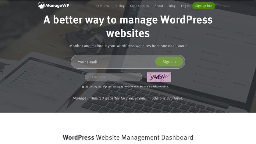 ManageWP Landing Page