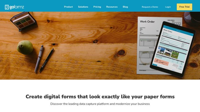 GoFormz Landing Page