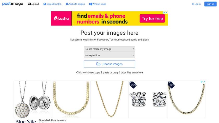 PostImage.org Landing Page