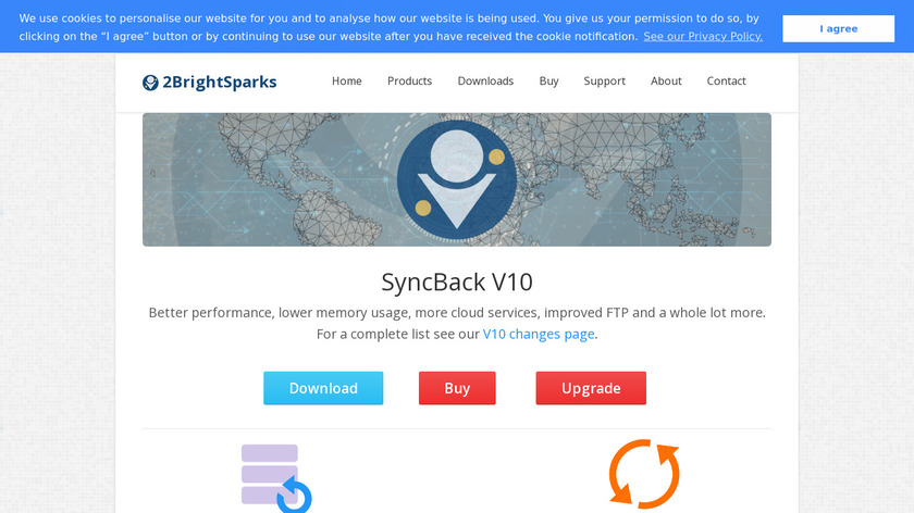 SyncBack Landing Page