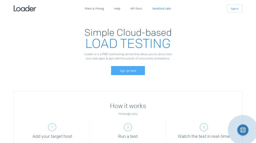 Loader.io Landing Page