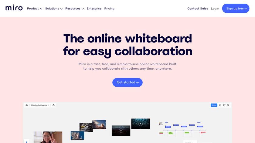 A Web Whiteboard Landing Page