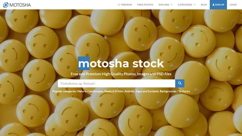 motosha Landing Page