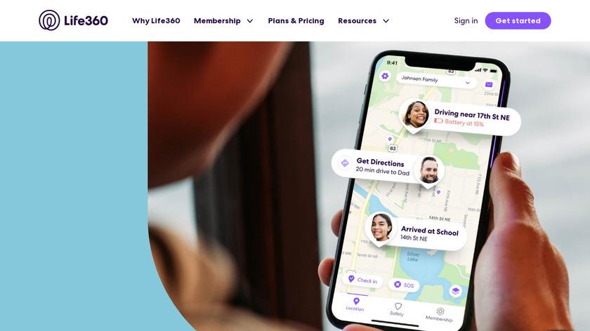 Life360 Family Locator Landing Page