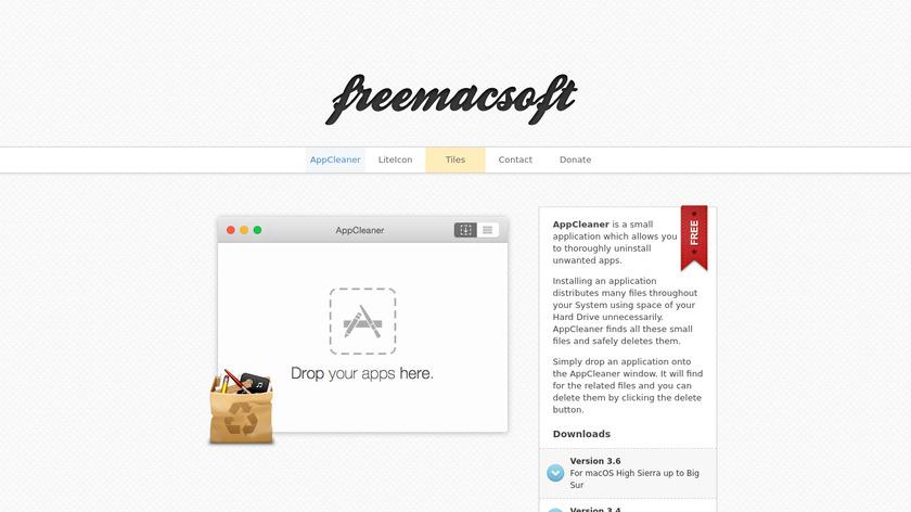 AppCleaner Landing Page