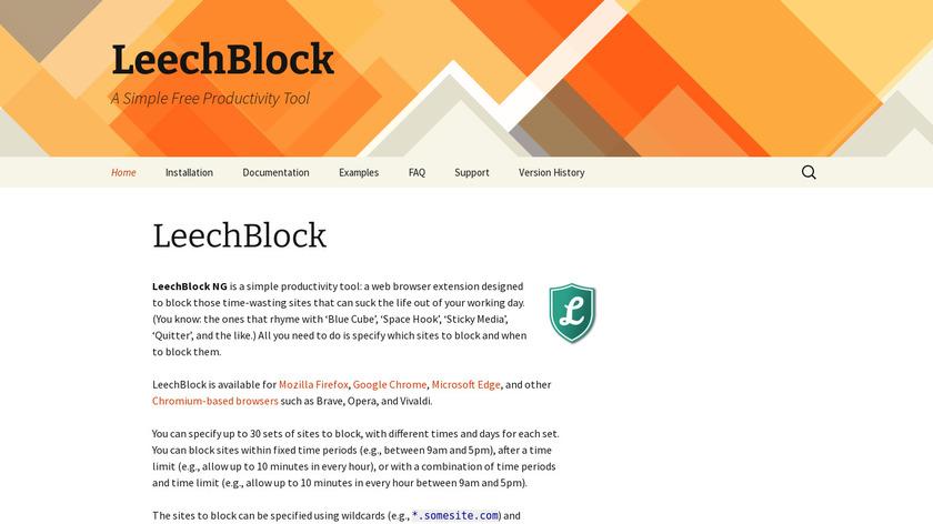 LeechBlock Landing Page