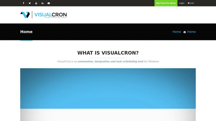VisualCron Landing Page