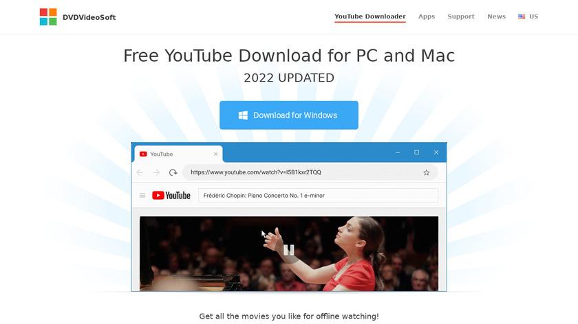 Free YouTube Download Landing Page