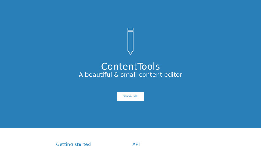 ContentTools Landing Page