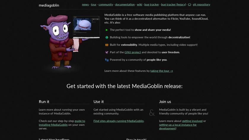 MediaGoblin Landing Page