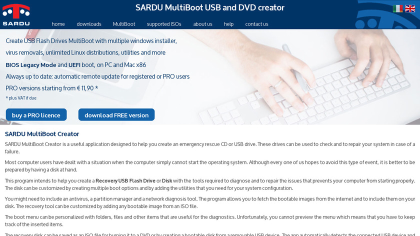 SARDU Landing Page