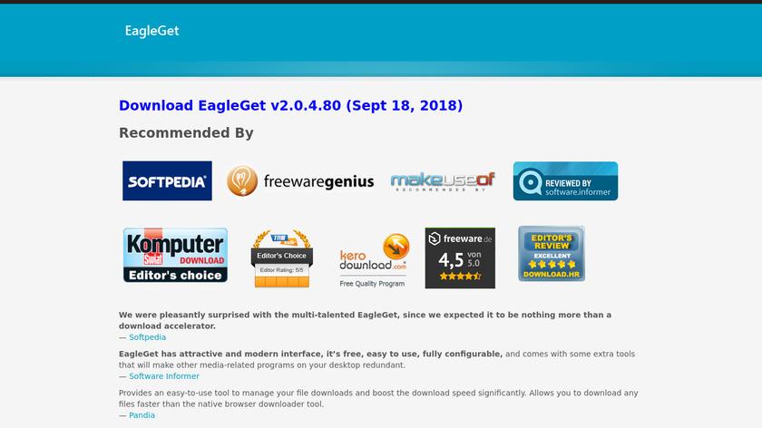 EagleGet Landing Page