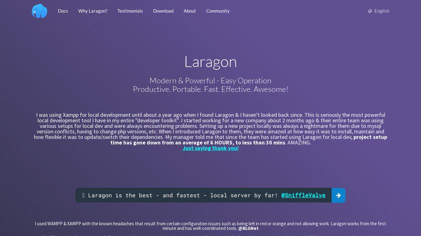 Laragon Landing Page