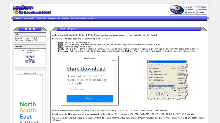 ImgBurn Landing Page