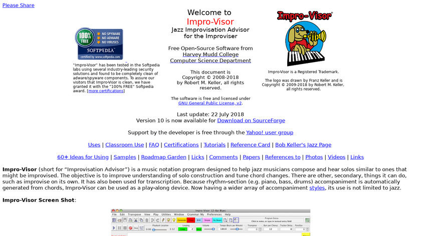 Impro-Visor Landing Page
