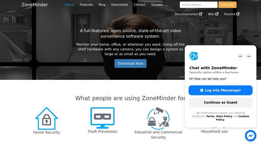 ZoneMinder Landing Page