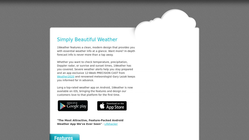 1Weather Landing Page