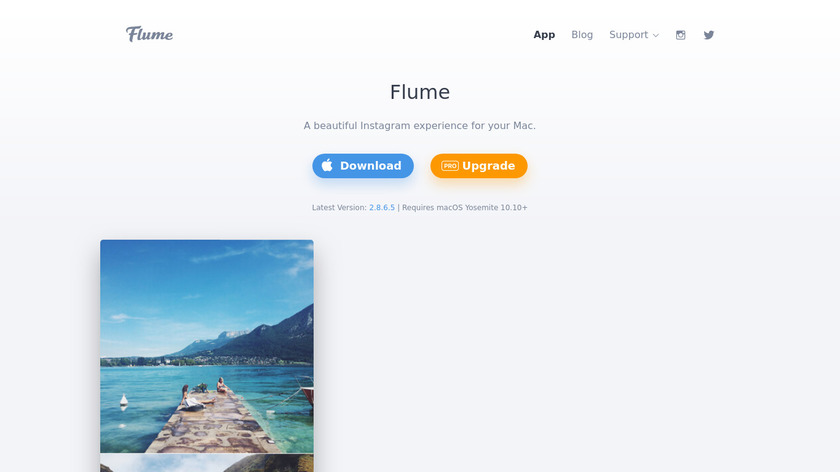 Flume Landing Page
