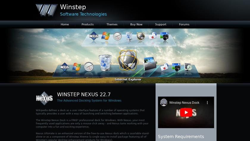 Winstep Nexus Landing Page