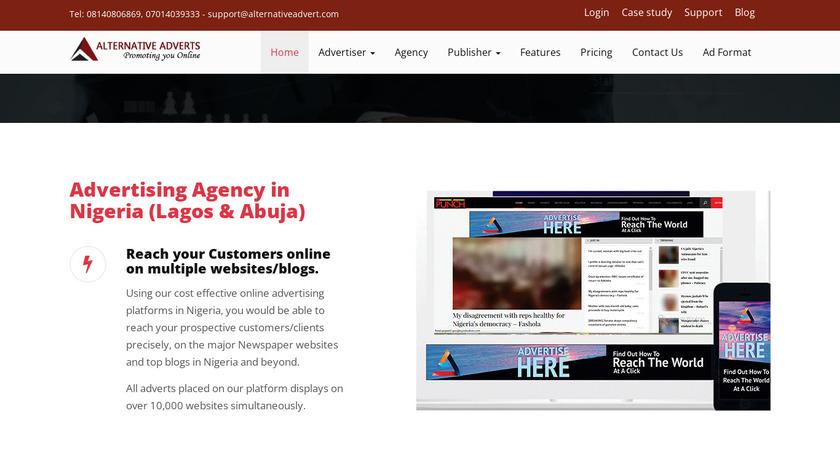 Alternative Adverts Adserver Landing Page