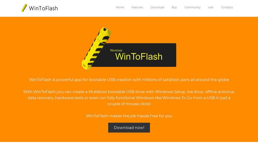 WinToFlash Landing Page