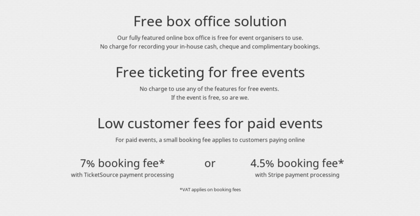 TicketSource Pricing